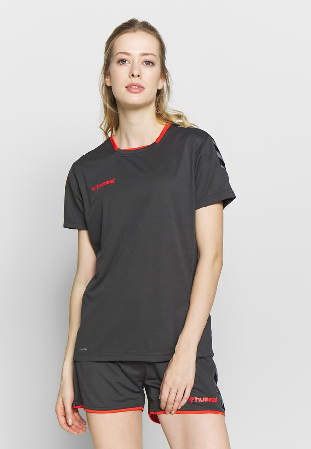 HMLAUTHENTIC  - T-Shirt print - asphalt