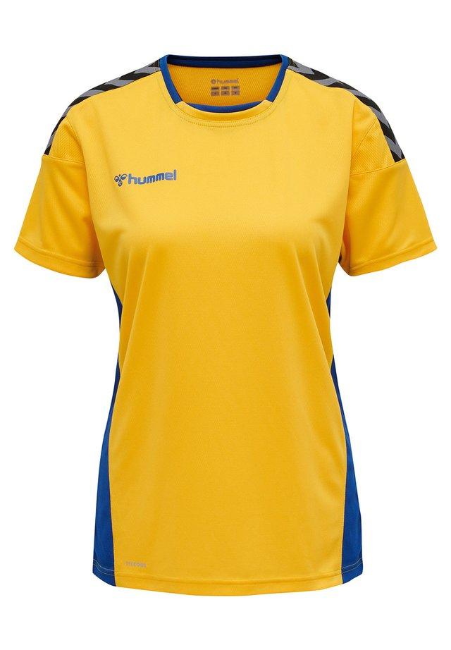 HMLAUTHENTIC  - T-shirts print - sports yellow/true blue