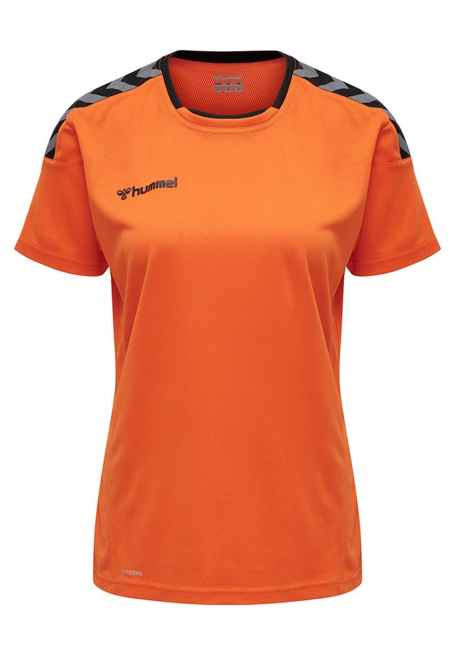 HMLAUTHENTIC  - T-shirts print - tangerine
