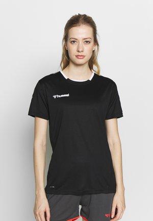 HMLAUTHENTIC  - Print T-shirt - black/white
