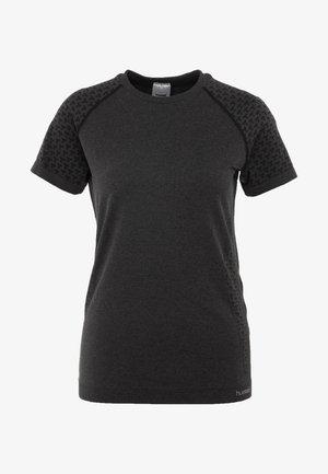 CI SEAMLESS - T-shirt print - dark grey melange