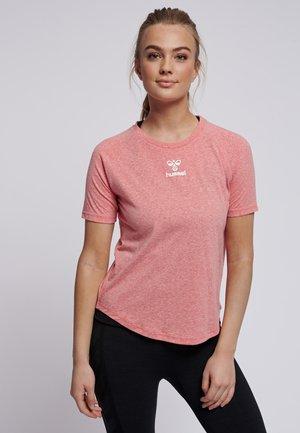 PEYTON  - Print T-shirt - calypso coral