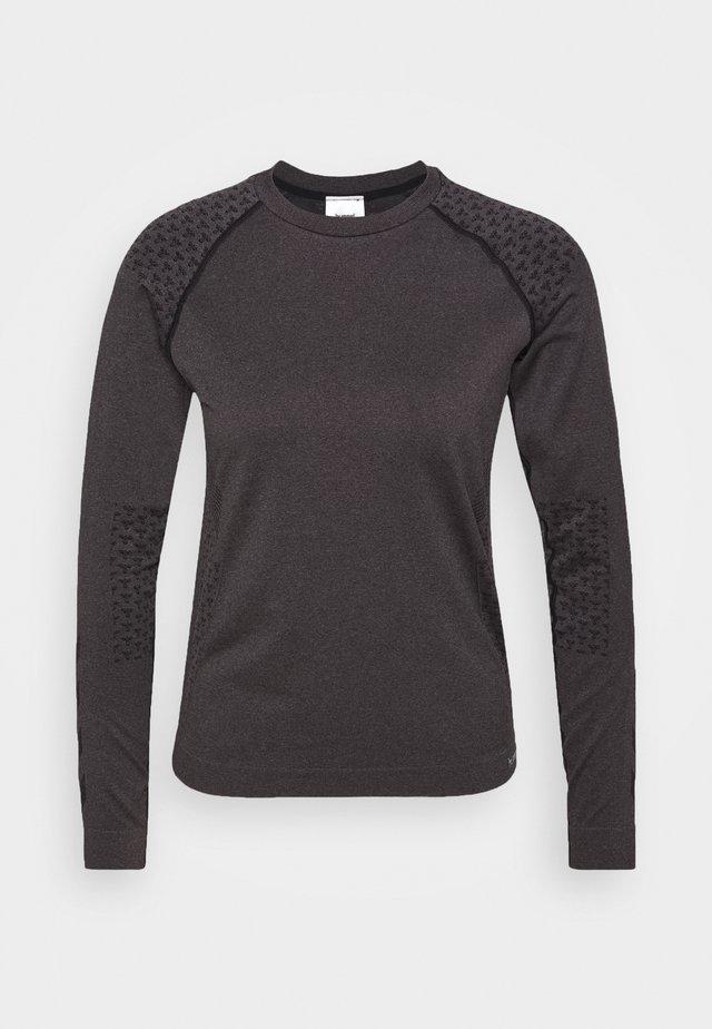 CI SEAMLESS - T-shirt de sport - black melange