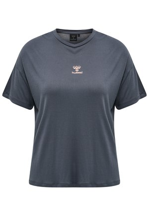 Print T-shirt - !bijou blue