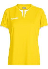 Hummel - CORE SS - T-shirts print - sports yellow pr - 0