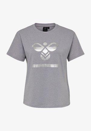 HMLBENITA  - Print T-shirt - grey melange/andean toucan