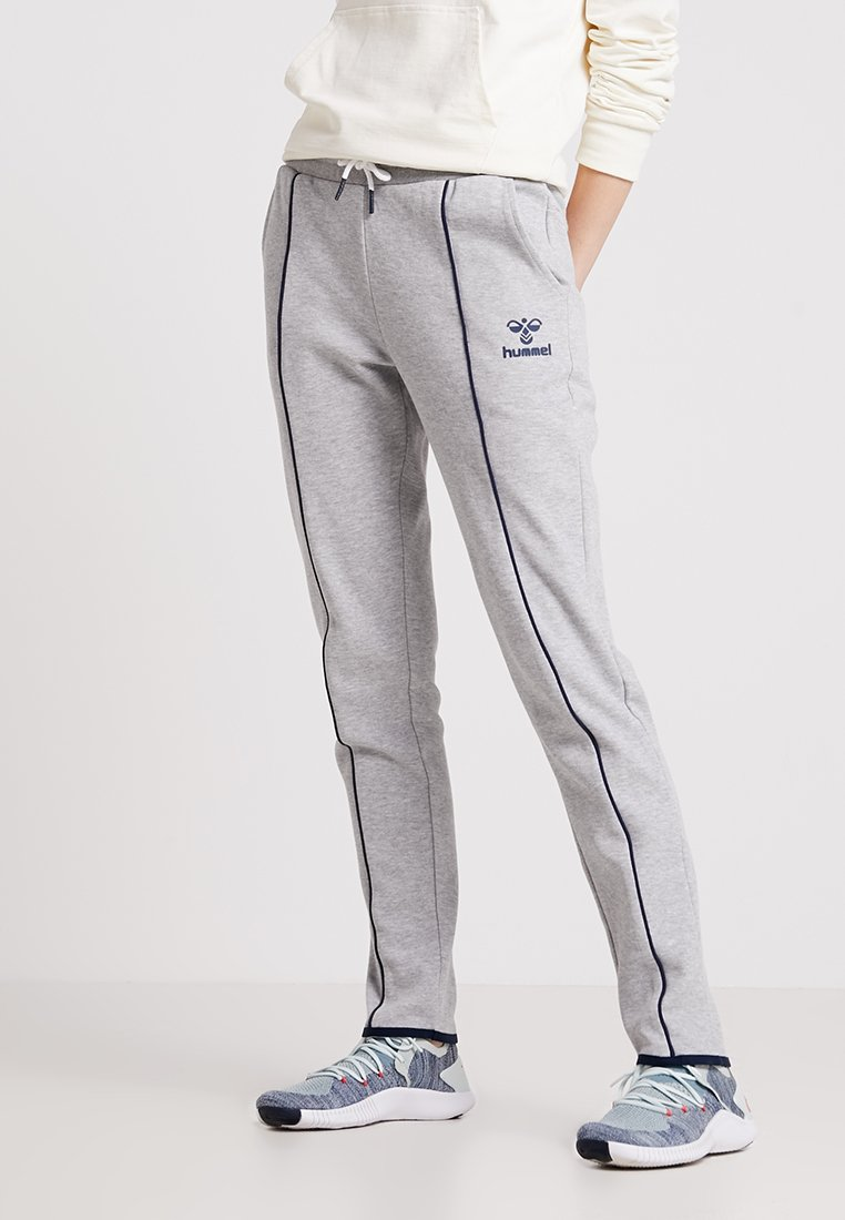 Hummel - LYDIA PANTS - Tracksuit bottoms - grey melange