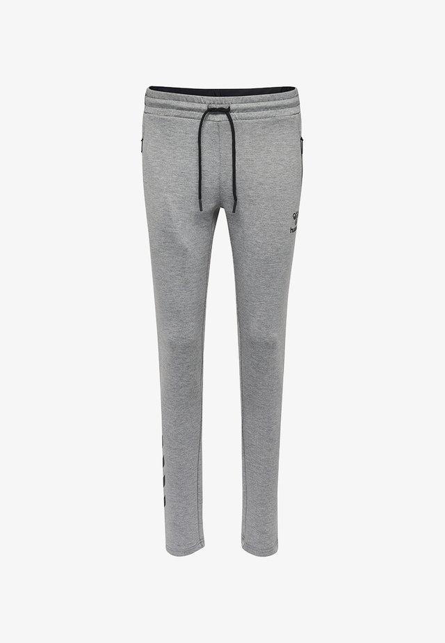 HMLCLIO - Spodnie treningowe - grey melange
