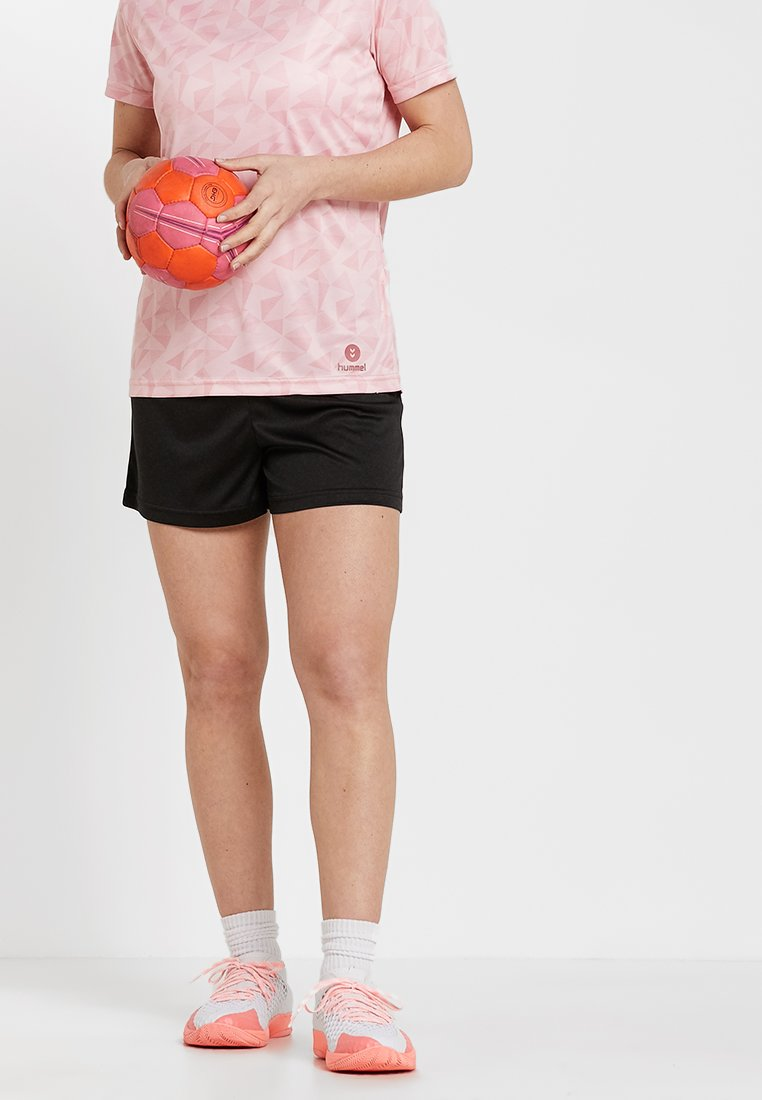 Hummel - ACTIVE SHORTS WOMAN - Pantalón corto de deporte - black