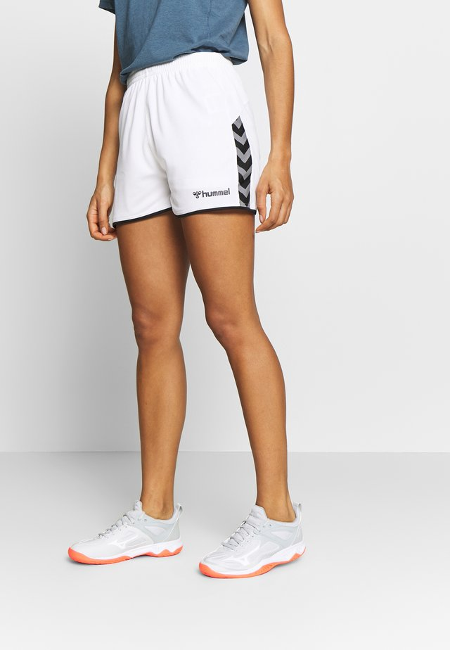 AUTHENTIC SHORTS WOMAN - Sports shorts - white
