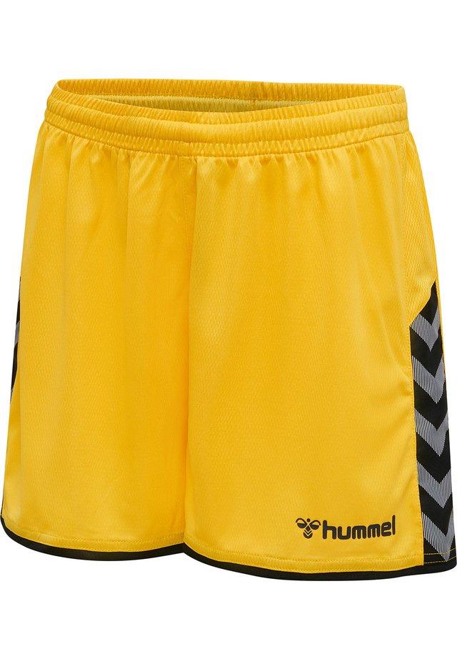 HMLAUTHENTIC  - Korte sportsbukser - sports yellow/black