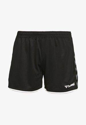 AUTHENTIC SHORTS WOMAN - Krótkie spodenki sportowe - black/white