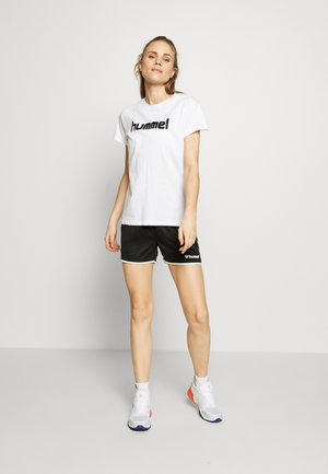 AUTHENTIC SHORTS WOMAN - Sports shorts - black/white
