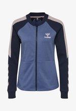 HMLSPICY ZIP JACKET - Training jacket - bijou blue