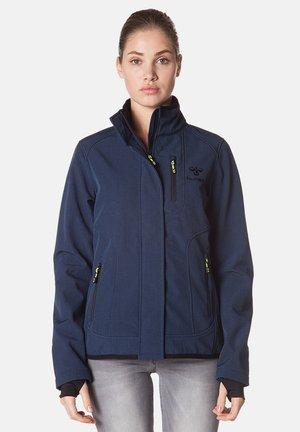 Soft shell jacket - dress blue melange