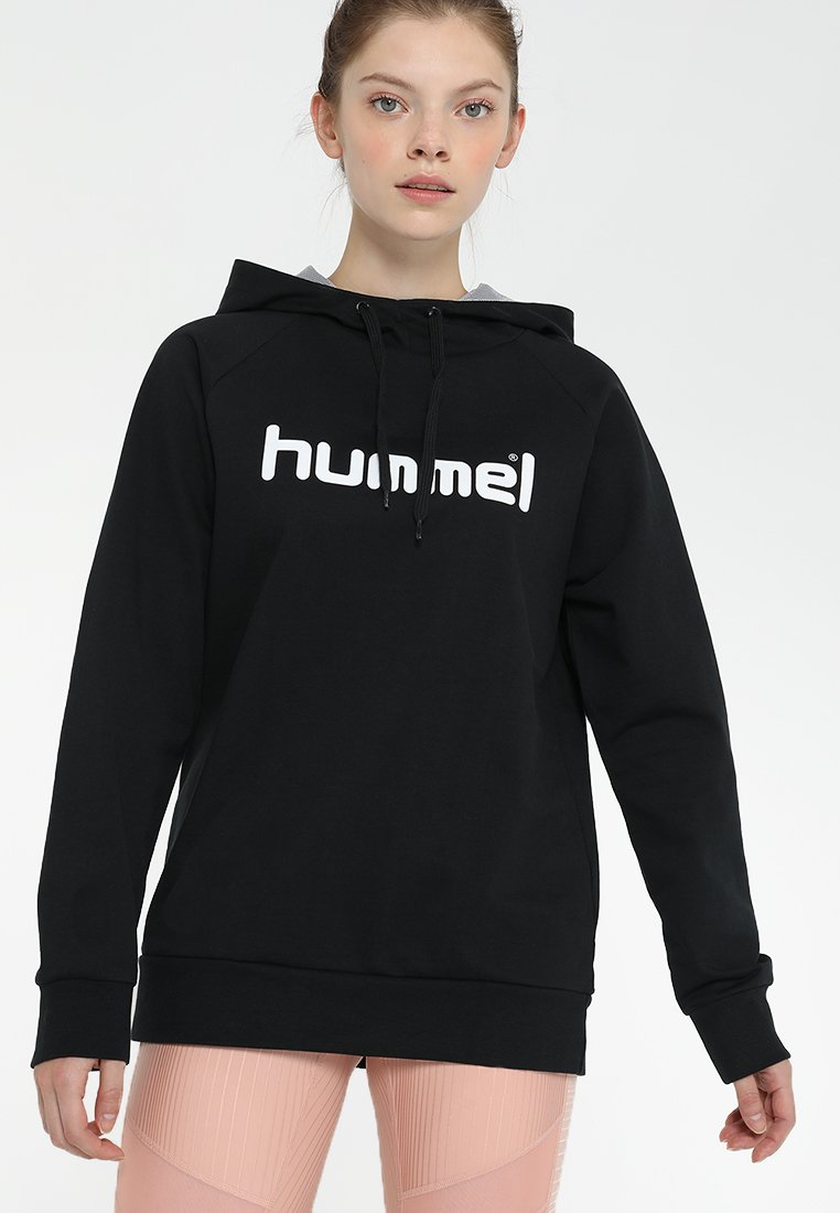 Hummel - GO LOGO HOODIE WOMAN - Jersey con capucha - black