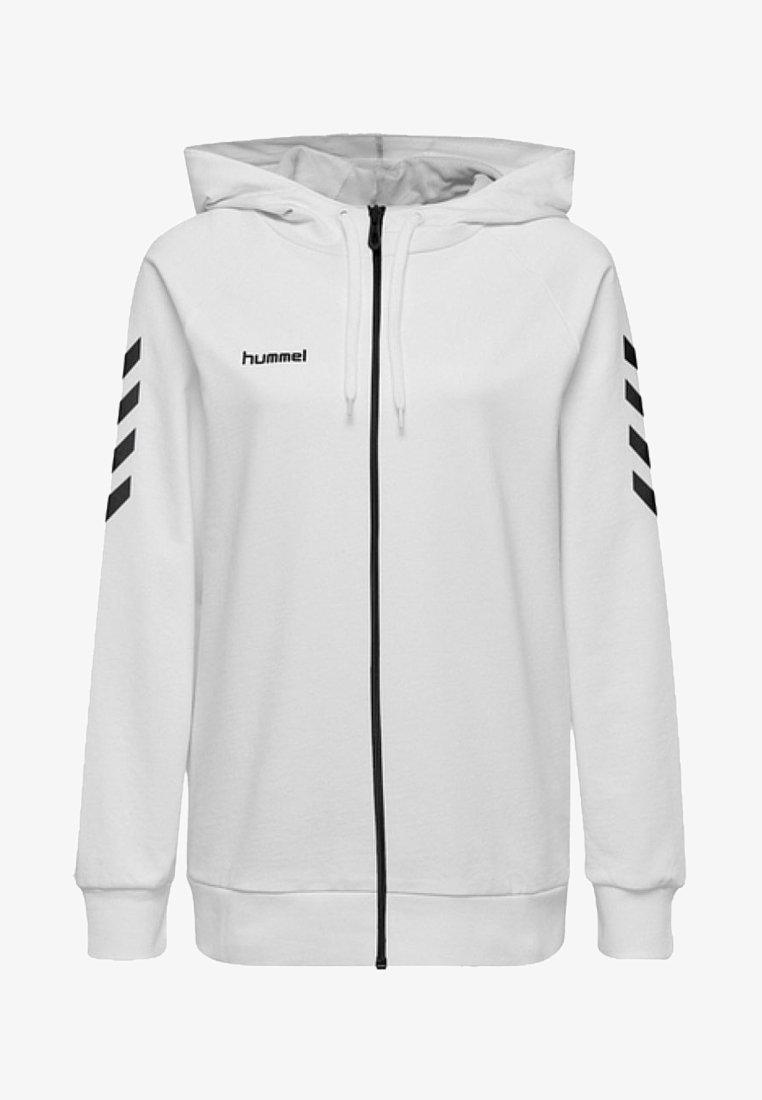 Hummel - HMLGO COTTON ZIP HOODIE - Sweatjakke /Træningstrøjer - white
