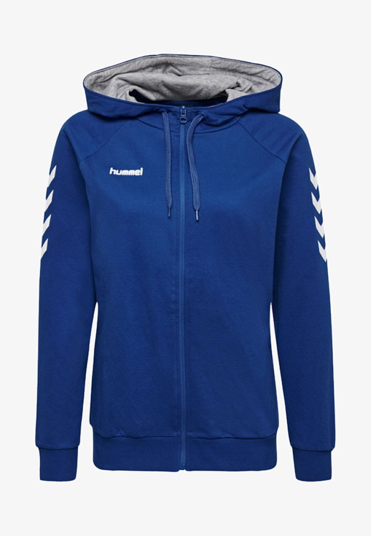 Hummel - HMLGO COTTON ZIP HOODIE - Sweatjakke /Træningstrøjer - true blue