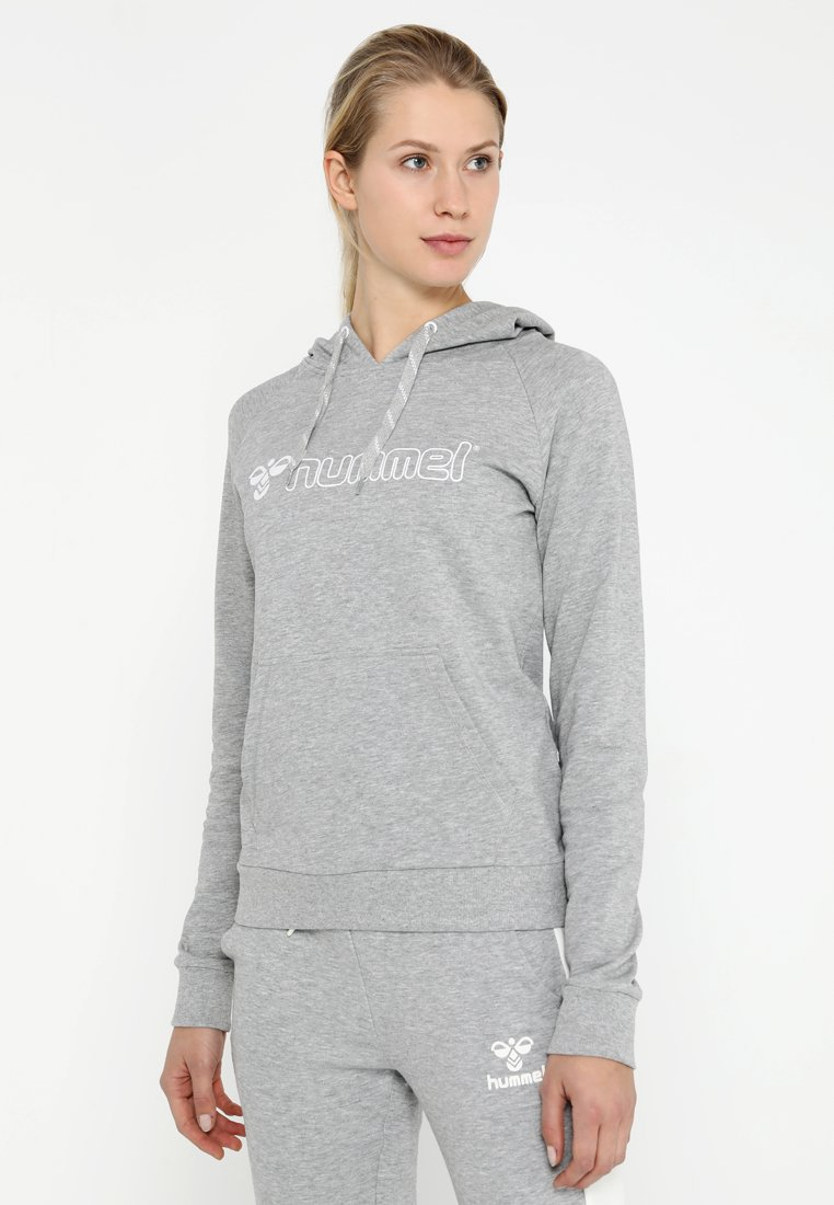 Hummel - HMLMADELYN HOODIE - Jersey con capucha - grey melange