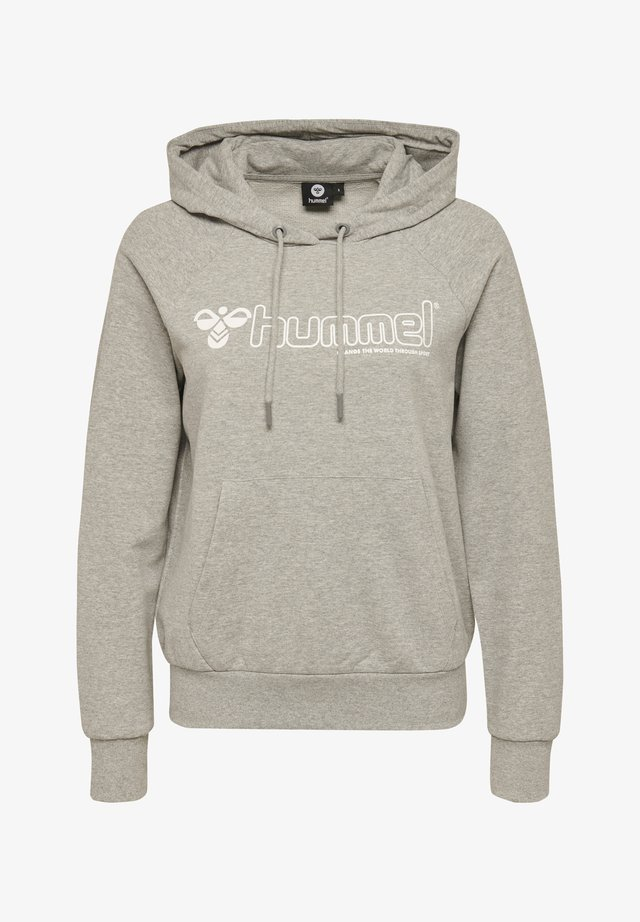 HMLNONI  - Hættetrøjer - grey melange