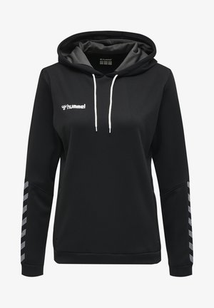 AUTHENTIC - Hoodie - black/white