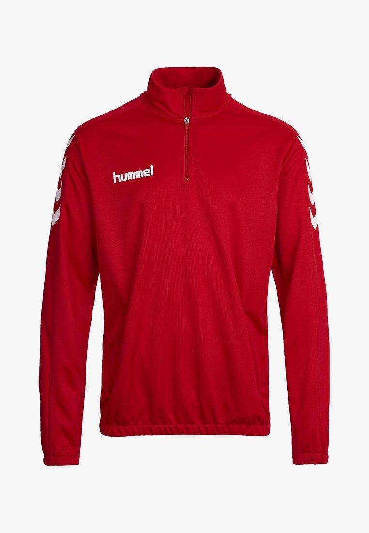 Hummel - CORE ZIP - Langærmede T-shirts - true red