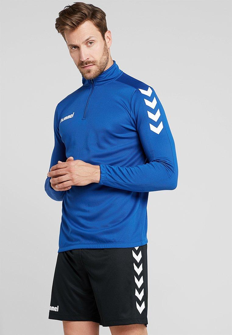 Hummel - CORE ZIP - Langærmede T-shirts - bleu