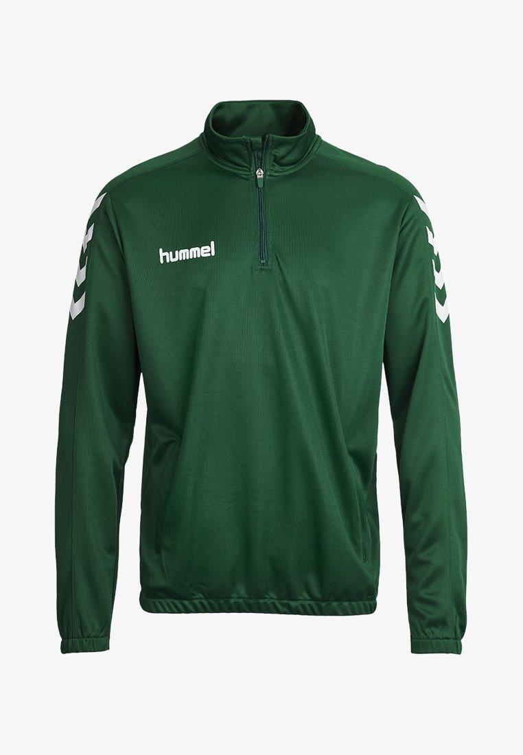 Hummel - CORE ZIP - Langærmede T-shirts - evergreen