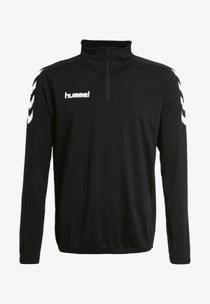 CORE ZIP - T-shirt à manches longues - black