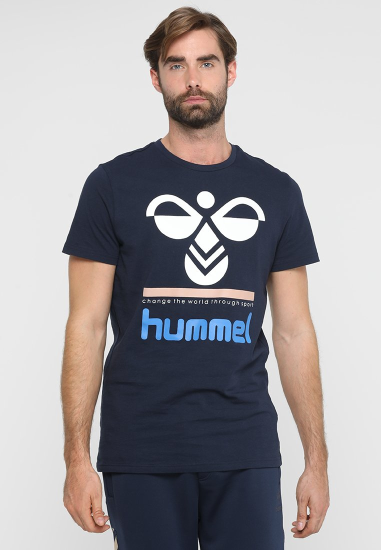 Hummel - WINSTON - Print T-shirt - black iris