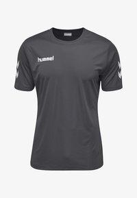 Hummel - CORE  - Print T-shirt - grey - 0