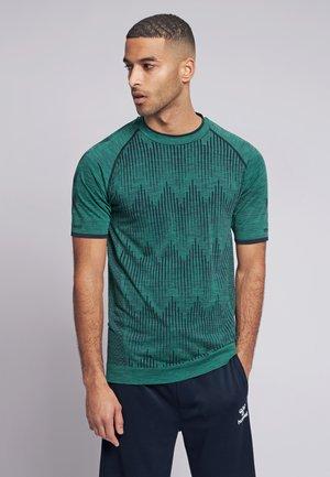 SEAMLESS  - Print T-shirt - marine green