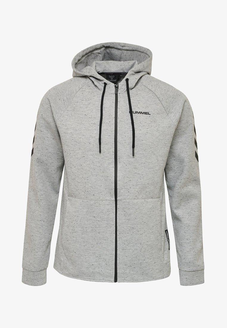 Hummel - HMLTHOREN - Sweatjacke - mottled grey