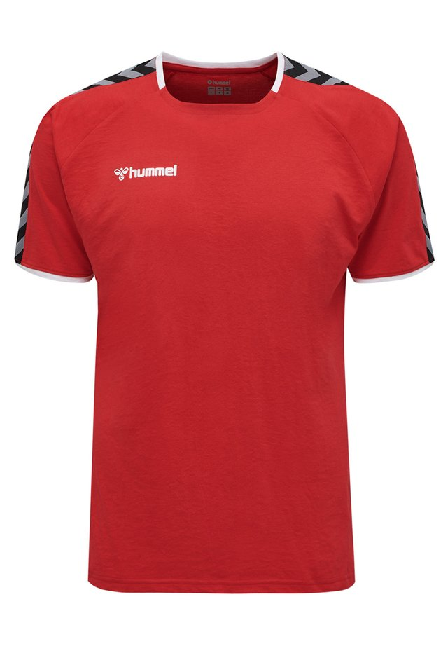 HMLAUTHENTIC - T-shirt z nadrukiem - true red