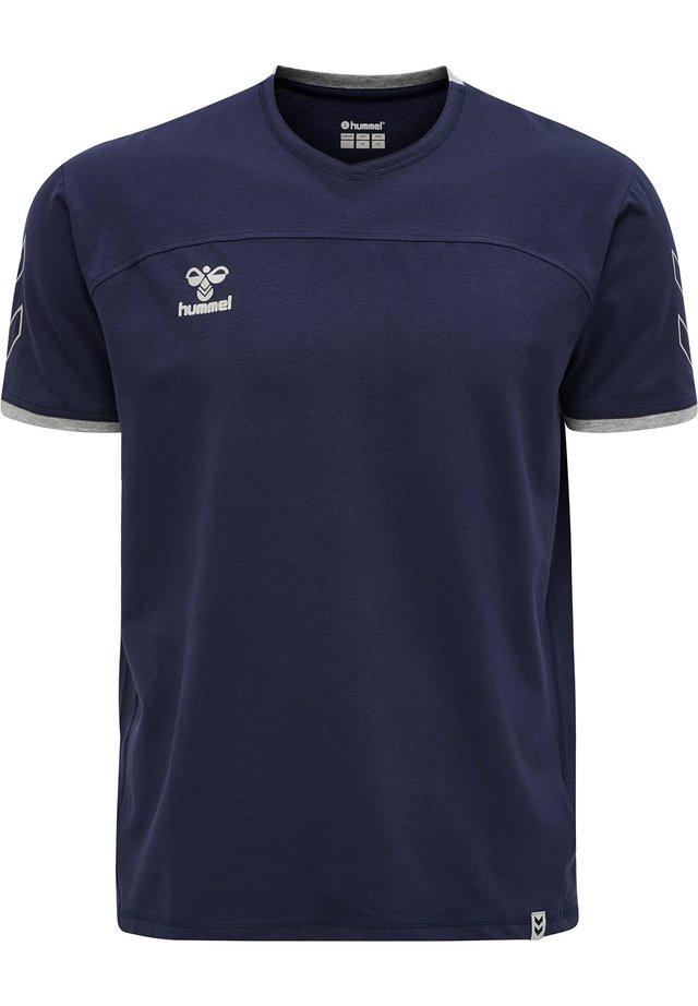 HMLCIMA  - T-shirt z nadrukiem - marine