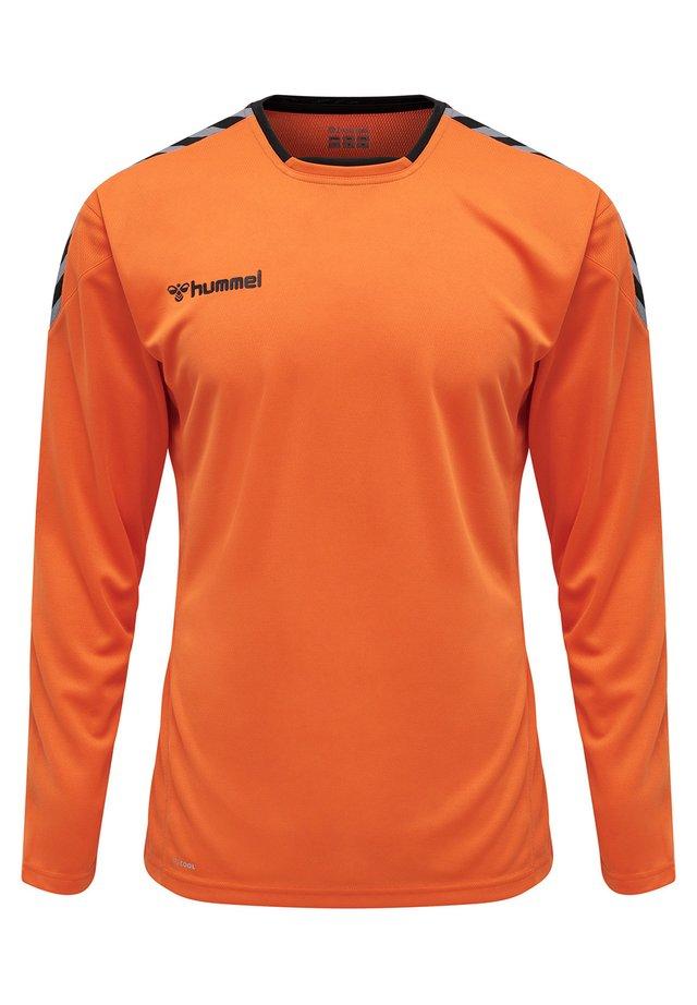 HMLAUTHENTIC - Langærmede T-shirts - tangerine