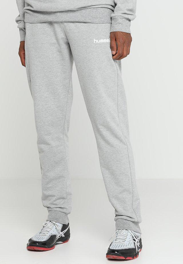 HMLGO COTTON PANT - Teplákové kalhoty - grey melange
