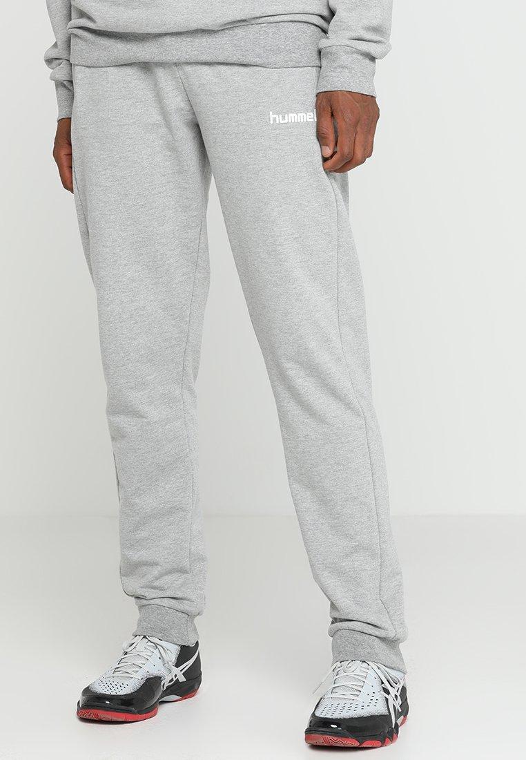 Hummel - HMLGO COTTON PANT - Pantalones deportivos - grey melange
