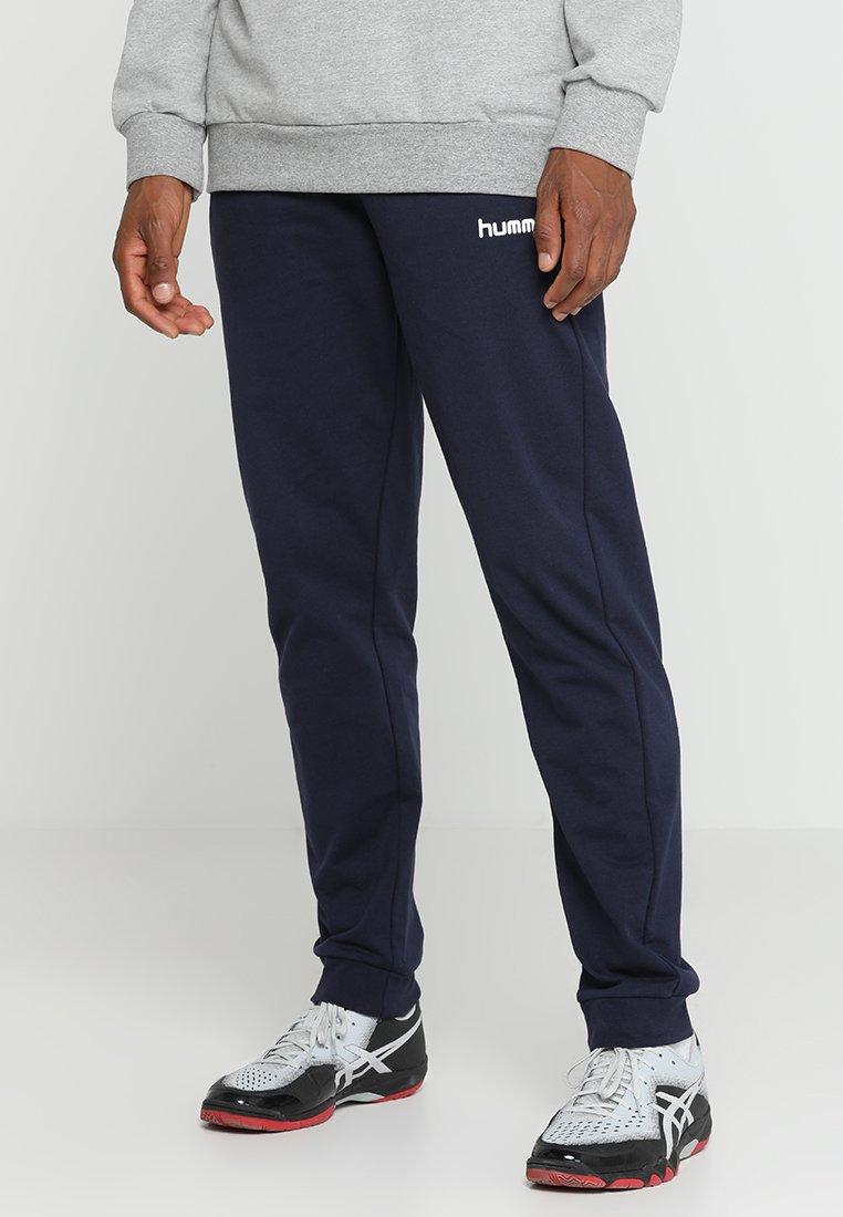 Hummel - HMLGO COTTON PANT - Pantalones deportivos - marine