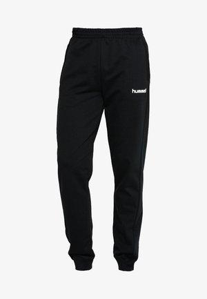 HMLGO COTTON PANT - Teplákové kalhoty - black