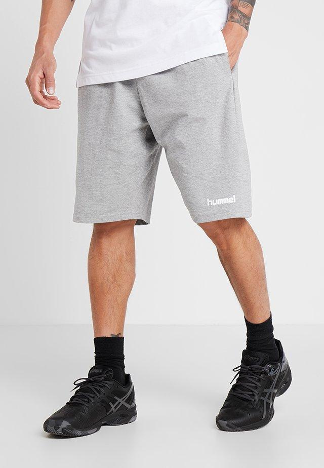 HMLGO BERMUDA - kurze Sporthose - grey melange