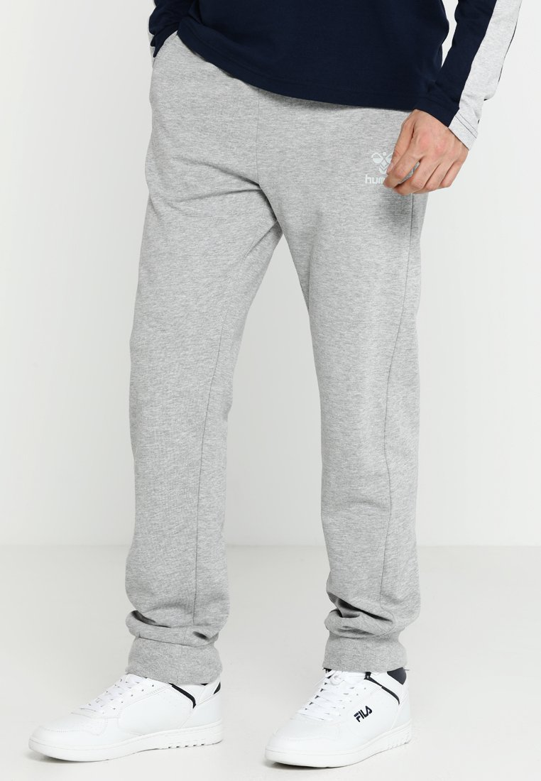 Hummel - HMLMATEO PANTS - Tracksuit bottoms - grey melange