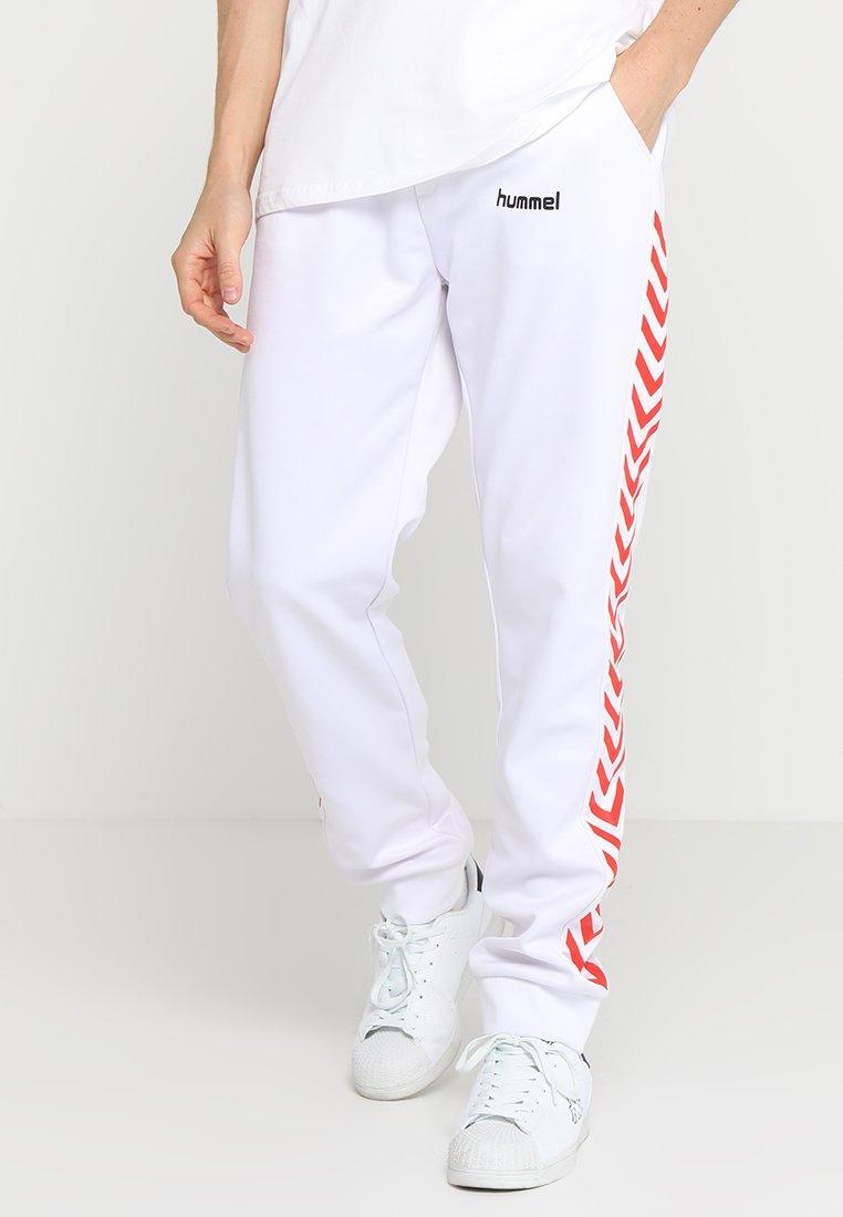 Hummel Hive - ALFRED PANTS - Teplákové kalhoty - white