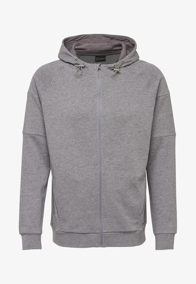 HMLACTIVE  - Zip-up hoodie - dark grey melange