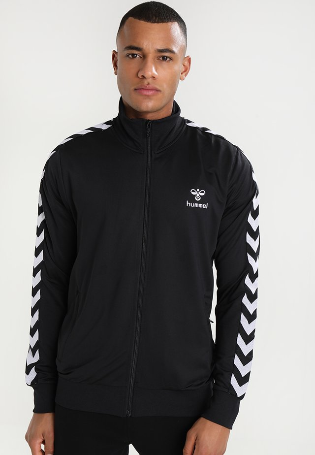 HMLNATHAN ZIP - Training jacket - caviar/caviar