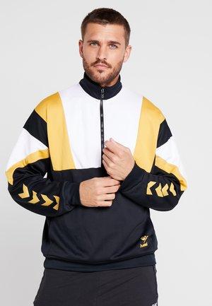 HMLDRACO HALF ZIP - Sweatshirt - black