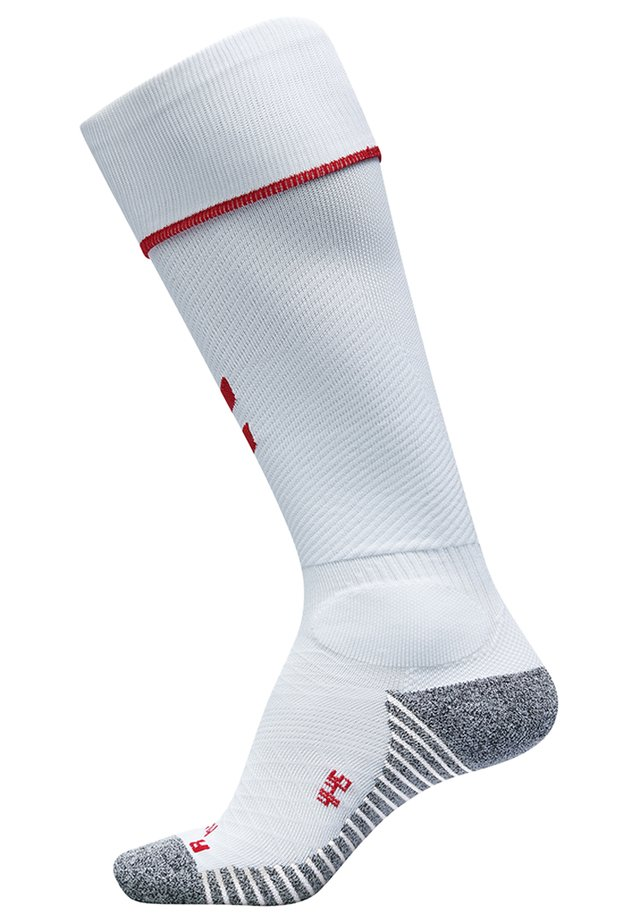 Knæstrømper - white/true red