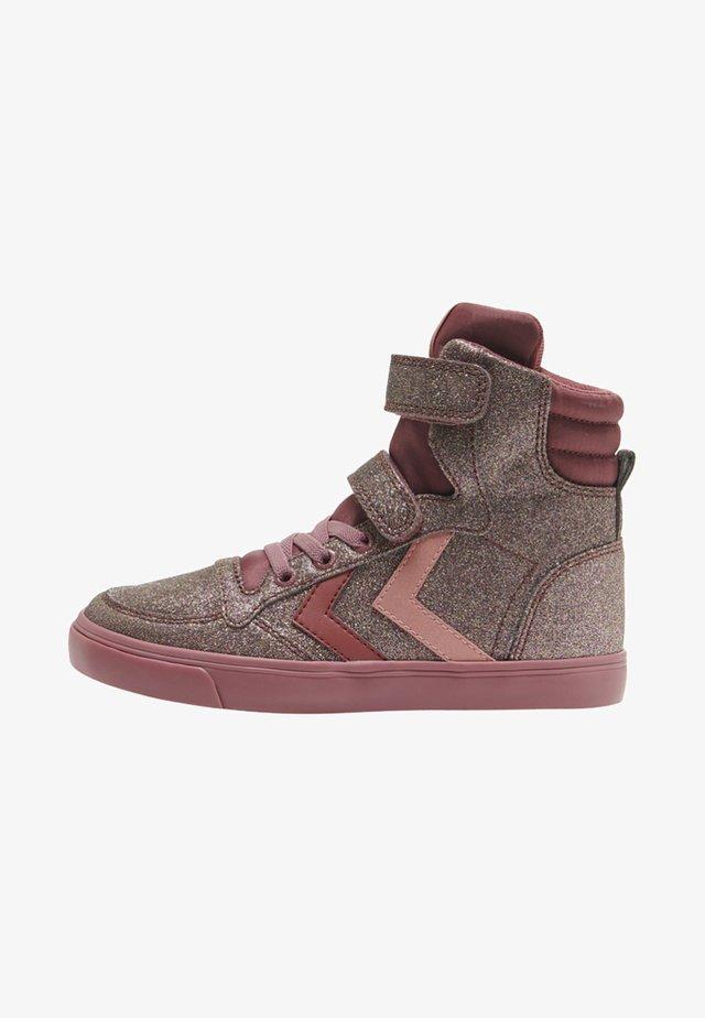 SLIMMER STADIL GLITTER  - Sneaker high - roan rouge