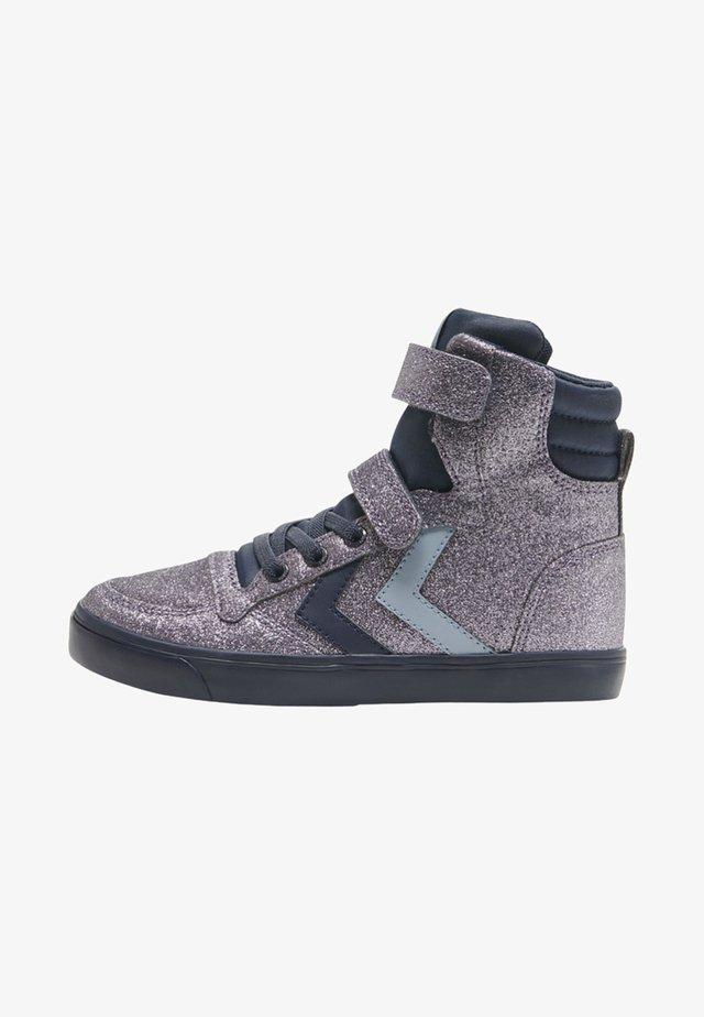 SLIMMER STADIL GLITTER  - Sneaker high - black iris
