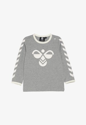 HMLFREDDIE - Bluzka z długim rękawem - grey melange